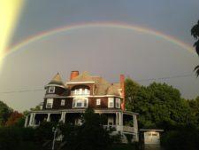 Moynihan House with Rainbow